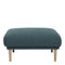 Larvik Footstool - Dark Green Oak Legs - FTG - Footstools - 6036038347 - 4