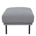Larvik Footstool - Grey Black Legs - FTG - Footstools - 60360381 - 2