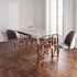 Marble Glass Rose Gold Dining Table by Native Home & Lifestyle - Native Home & Lifestyle - DT-MARBGLASS-RG - 1