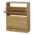 Nova 2 Drawer Shoe Storage Oak - Lenora - Shoe Storages - NOVA2DR - 1