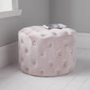 Pastel Pink Tufted Velvet Pouffe by Native Home & Lifestyle - Native Home & Lifestyle - Pouffes - ST-BUTTON-PINK - 1