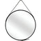 Piers Mirror - Black - Distinctive Designs - Round & Oval Mirrors - SR-BLACKFRAME500DIAMIRROR1 - 1