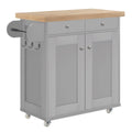 Portland Kitchen Island Grey - Lenora - Kitchen Islands - PORTKITGRE - 1