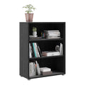 Prima - Prima Bookcase 2 Shelves in Black Woodgrain - FTG - Bookcases - 7208042361 - 7