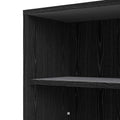 Prima - Prima Bookcase 2 Shelves in Black Woodgrain - FTG - Bookcases - 7208042361 - 8