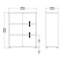 Prima - Prima Bookcase 2 Shelves in Black Woodgrain - FTG - Bookcases - 7208042361 - 11