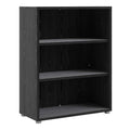Prima - Prima Bookcase 2 Shelves in Black Woodgrain - FTG - Bookcases - 7208042361 - 1