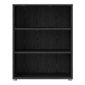 Prima - Prima Bookcase 2 Shelves in Black Woodgrain - FTG - Bookcases - 7208042361 - 2
