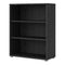 Prima - Prima Bookcase 2 Shelves in Black Woodgrain - FTG - Bookcases - 7208042361 - 3