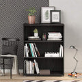 Prima - Prima Bookcase 2 Shelves in Black Woodgrain - FTG - Bookcases - 7208042361 - 5