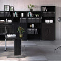 Prima - Prima Bookcase 5 Shelves with 2 Drawers and 2 Doors in Black Woodgrain - FTG - Bookcases - 720804212561 - 8