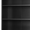 Prima - Prima Bookcase 5 Shelves with 2 Drawers and 2 Doors in Black Woodgrain - FTG - Bookcases - 720804212561 - 10