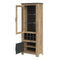 Rapallo - Rapallo 2 Door Display Cabinet with Wine Rack in Chestnut and Matera Grey - FTG - Cabinets - 4420142 - 2