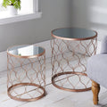 Rose Gold side Table (set of 2) by Native Home & Lifestyle - Native Home & Lifestyle - Nesting Tables - ST-NEST01-COP - 1