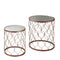 Rose Gold side Table (set of 2) by Native Home & Lifestyle - Native Home & Lifestyle - Nesting Tables - ST-NEST01-COP - 2