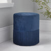 Round Blue Velvet Tassels Stool by Native Home & Lifestyle - Native Home & Lifestyle - Stools - ST-TASS-BLUE - 1