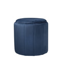 Round Mystique Blue Plush Stool by Native Home & Lifestyle - Native Home & Lifestyle - Stools - ST-FOAM-BLUE - 3