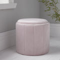Round Pastel Pink Plush Stool by Native Home & Lifestyle - Native Home & Lifestyle - Stools - ST-FOAM-PINK - 1