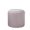 Round Pastel Pink Plush Stool by Native Home & Lifestyle - Native Home & Lifestyle - Stools - ST-FOAM-PINK - 3
