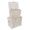 Double Log Basket 90 x50x80 + another inside <br>Dimensions: Width: 90   70cm Depth: Box 1 -56   46cm Height: 60  53cm <br...