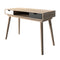 Scandi Desk Oak with Grey and White Drawers - Lenora - Desks - SCANDIDESKGREY - 1