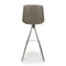 Shankar City Grey Antiqued Leather Match Skypod Scoop Seat Bar Chair - Shankar - Bar Stools - 033-16-01-12-02 - 5