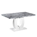 Shankar Marble top Effect 150cm Dining Table - Shankar - Dining Tables - 914-21-01 - 1