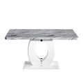 Shankar Marble top Effect 150cm Dining Table - Shankar - Dining Tables - 914-21-01 - 2