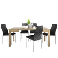 Shetland - Dining Set Package Shetland Extending Dining Table + 4 Milan High back Chair Black. - FTG - Dining Sets - 4197661420 - 1