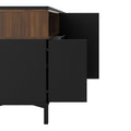 Sideboard 3 Drawers 3 Doors in Black and Walnut - FTG - Sideboards - 7169217886DJ - 5
