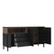 Sideboard 3 Drawers 3 Doors in Black and Walnut - FTG - Sideboards - 7169217886DJ - 8
