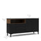 Sideboard 3 Drawers 3 Doors in Black and Walnut - FTG - Sideboards - 7169217886DJ - 9