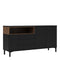 Sideboard 3 Drawers 3 Doors in Black and Walnut - FTG - Sideboards - 7169217886DJ - 1