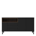 Sideboard 3 Drawers 3 Doors in Black and Walnut - FTG - Sideboards - 7169217886DJ - 2