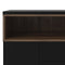 Sideboard 3 Drawers 3 Doors in Black and Walnut - FTG - Sideboards - 7169217886DJ - 4