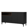 Sideboard 3 Drawers 3 Doors in Black and Walnut - FTG - Sideboards - 7169217886DJ - 3