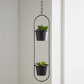 Small Duo Black Hanging Plant Holder by Native Home & Lifestyle - Native Home & Lifestyle - Plant Holders - PH-HANGING02 - 1