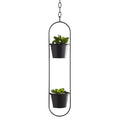 Small Duo Black Hanging Plant Holder by Native Home & Lifestyle - Native Home & Lifestyle - Plant Holders - PH-HANGING02 - 3