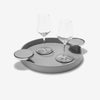 Small Round Tray with Coaster Holder - Pinetti - S19-PnT-Try-SmlRoundTrayCoasterHolder - 1
