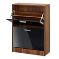 Strand 2 Drawer Shoe Storage Black - Lenora - Shoe Cabinets - STRA2DRBLA - 1