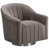 Tiffany Swivel Chair Cappuccino - Lenora - Armchairs - TIFFCAP - 1