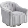 Tiffany Swivel Chair Silver - Lenora - Armchairs - TIFFSILV - 1