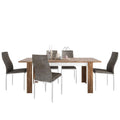 Toledo - Dining Set Package Toledo Extending Dining Table + 6 Milan High back Chair Dark Brown. - FTG - Dining Sets - 4287544611 - 1