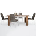 Toledo - Dining Set Package Toledo Extending Dining Table + 6 Milan High back Chair Dark Brown. - FTG - Dining Sets - 4287544611 - 2