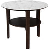 Troy Nightstand - Circular - Distinctive Designs - Nightstand - SR-SIDETABLE-TROY-WHITEMARBLE - 1