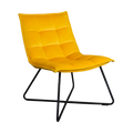 Yellow Velvet Armchair by Native Home & Lifestyle - Native Home & Lifestyle - CHAIR-RELAX-YELLOW - 4
