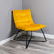 Yellow Velvet Armchair by Native Home & Lifestyle - Native Home & Lifestyle - CHAIR-RELAX-YELLOW - 2
