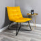 Yellow Velvet Armchair by Native Home & Lifestyle - Native Home & Lifestyle - CHAIR-RELAX-YELLOW - 1