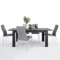 Zingaro - Dining Set Package Zingaro Dining Table + 6 Milan High back Chair Grey. - FTG - Dining Sets - 4337567653 - 2