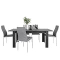 Zingaro - Dining Set Package Zingaro Dining Table + 6 Milan High back Chair Grey. - FTG - Dining Sets - 4337567653 - 1